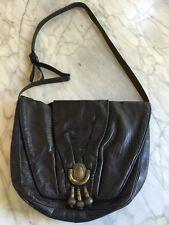 Original SHARIF Black Leather Handbag with tassels