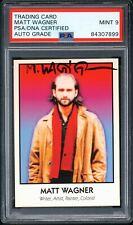 1992 Famous Comic Book Creators Matt Wagner #41 Grendel On Card Auto Psa 9 Mint