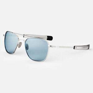 Randolph Aviator 23K White Gold SkyTec™ Glass Blue Hydro Lenses