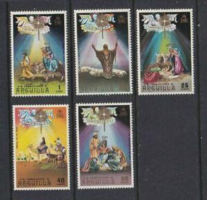 ANGUILLA 1972 Christmas Set MNH