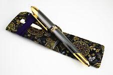 Cartier Cougar De Cartier Cabochon Fountain Pen with TACCIA Kimono Pen Sleeve