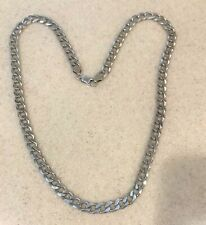 """(Italy) Chain 24"""" long Mens Sterling Silver 6.35mm 65G"""