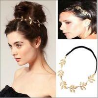 Vintage Elegant Women Girls Retro Chic Hollow Leaf Elastic Hair Band Headband H7