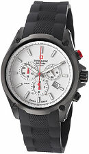 Swiss Alpine Military Men's Red force White Chronograph Dial Watch 1635.9872 SAM