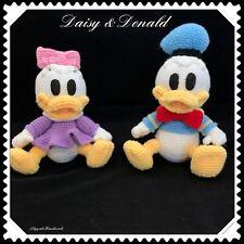 Handmade crochet toys Donald and Daisy