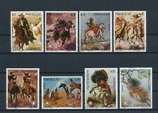 Paraguay  1694a-g.1695 used, Western Paintings, 1976