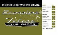 Bishko OEM Maintenance Owner's Manual Bound for Ford Truck Econoline 1965