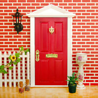 Cute 1:12 Dollhouse mini Wood Fairy Door DIY Assembled Metal With D0F9