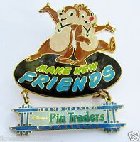 Disney WDW Pin Traders Make New Friends Dangle Chip and Dale Pin **