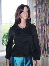 Claudie Pierlot edle Bluse in schwarz 3/4 Arm Baumwolle Grösse 36 neu