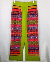 Guatemalan Handmade Tribal Mayan Skirt Boho Bright Colorful W/ Slits Cotton EUC