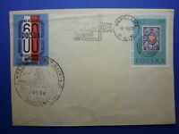 LOT 12387 TIMBRES STAMP ENVELOPPE TIMBRE SUR TIMBRE POLOGNE POLSKA ANNEE 1960