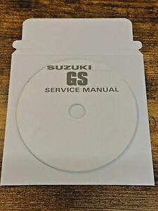 The Ultimate Suzuki GS1000 GS750 GS650 GS550 Service Repair Workshop Manual CD