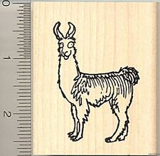 Comic Llama Rubber Stamp Wood Mounted H7707 stamps
