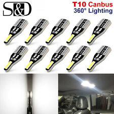 10Pcs T10 W5W 194 168 LED CANBUS License Plate Interior Wedge Light Bulbs White