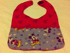 Mickey Mouse Blue and Red Handmade Baby Bib