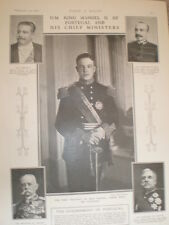 Printed Photos King Manuel II of Portugal and his ministers 1908