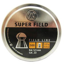 RWS Super Field .22 5.52mm 1 03g 15.9gr Air Rifle Pellets