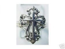 LOOK New Celtic Cross ring Sterling Silver 925 Jewelry Jesus