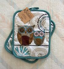 Owl Pot Holder Set Kay Dee Spice Road Owl Pattern