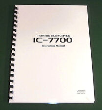 Icom IC-7700 Instruction Manual - Premium Card Stock & Protective Covers!