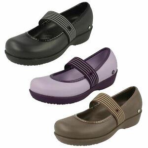 Ladies Crocs Slip On Casual Summer Shoe Small Wedge Heel Lexi