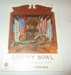 1975 Liberty Bowl Program - USC Trojans Win!