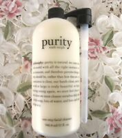 PHILOSOPHY~ PURITY MADE SIMPLE One-Step Facial Cleanser~Super-Size 32 oz w/Pump