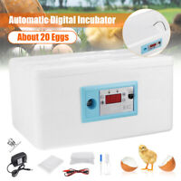 20 Egg Automatic Turning Digital Incubator Poultry Hatcher Temperature