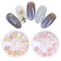 3D Nail Art Decoration In Wheel Sun Flower Snowflake Leaf Gold Rose Nail Charms