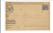 Baviera/mer. n. d42/1 Mk. stato popolare-aufdr. (beifrank. mancante) A. Lettera-VS