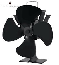 MIXAIR Eco Heat Powered Stove Fan Ecofan Wood heater fireplace- Black