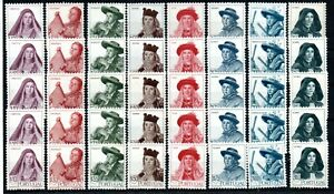 PORTUGAL , 1947 , COSTUMES , WHOLESALE of FIVE !! scarce full sets , MNH !