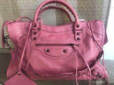 Balenciaga Classic City Brass 115748 Agneau Leather Shoulder Bag Rose Hortensia