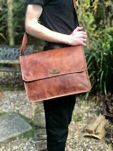 """Women's Briefcase Genuine Leather Shoulder Messenger 18"""" Laptop Bag Adult Men's"""