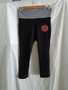 LORNA JANE black capri logo leggings Size XS