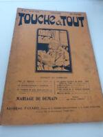 revue touche à tout n°4  avril 1909  -sommaire en photo - (cboi07)