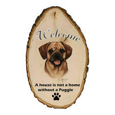Puggle Fawn Indoor/Outdoor Welcome Sign
