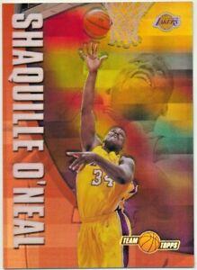 2002-03 Topps Chrome Shaquille O'Neal Team Topps Lakers Refractor #TT1