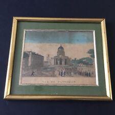 Gravure Vue Optique Arrivée Tombeau Panthéon Déb XIXè Napoleonic Etching