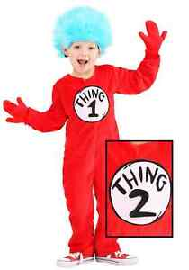 Deluxe Thing 1&2 Toddler Costume