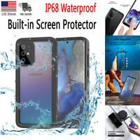 For Samsung Galaxy S20 Plus Ultra Waterproof Case Clear Cover w/Screen Protector