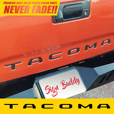 2016 2017 2018 TACOMA (Matte Black) Vinyl Decal Tailgate Letters Insert Sticker