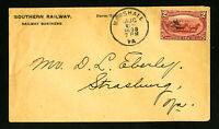 US 1898 Southern Railway Advertising Stamp Cover