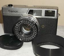 CORNICE CON MONTANTE 35mm CRF Canonet + 5cm f1.9 + Cappuccio _ Instr. + guida