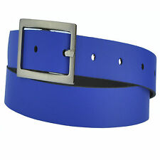 22 colours and 12 Lengths Selectable 4cm Wide Fashionable Real Leather Belt