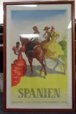 Equestrian Travel Poster from Spanien   Orig. 1949 Litho Poster Art by Morell