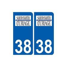 38 Saint-Martin-d'Uriage logo ville autocollant plaque stickers