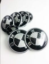 7 pcs Black-white Carbon Fiber Emblem Logo Badge Set BMW² M3 X5 2x82+4x68+1x45mm