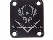 """Fender Strat/Tele Neck Plate Chrome - 2124 Customs New """"Phenix"""" Black"""